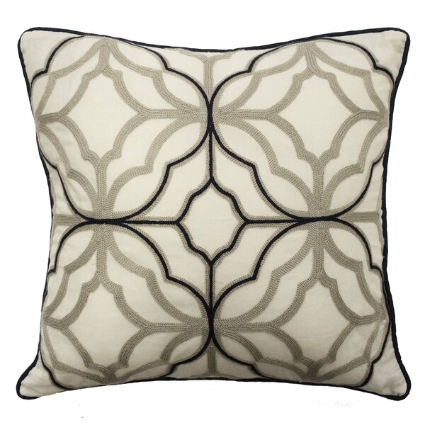 Castleford Embroidered 100% Cotton Throw Pillow by Waverly
